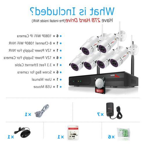 Outdoor Surveillance 8CH 1080P HD CCTV