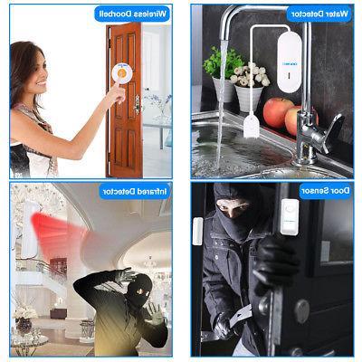 OWSOO 433MHz PSTN LCD Remote Burglar Security Alarm A3F3