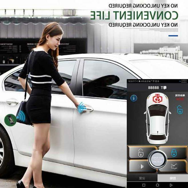 PKE Smart Key Alarm System Start Push Ios Phone