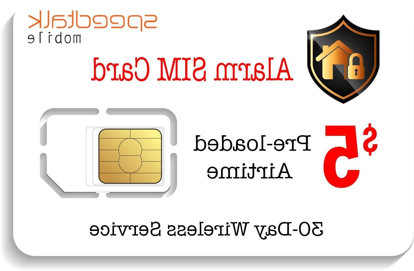 $5 Prepaid SIM Card for GSM Home Alarm + GPS Tracker Service