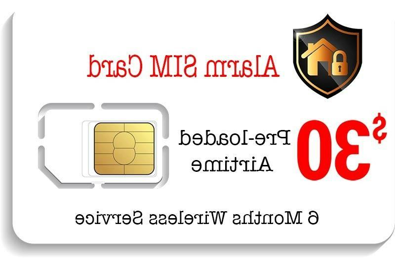 $30 Prepaid Alarm SIM Card for GSM Home Security Alarm Syste