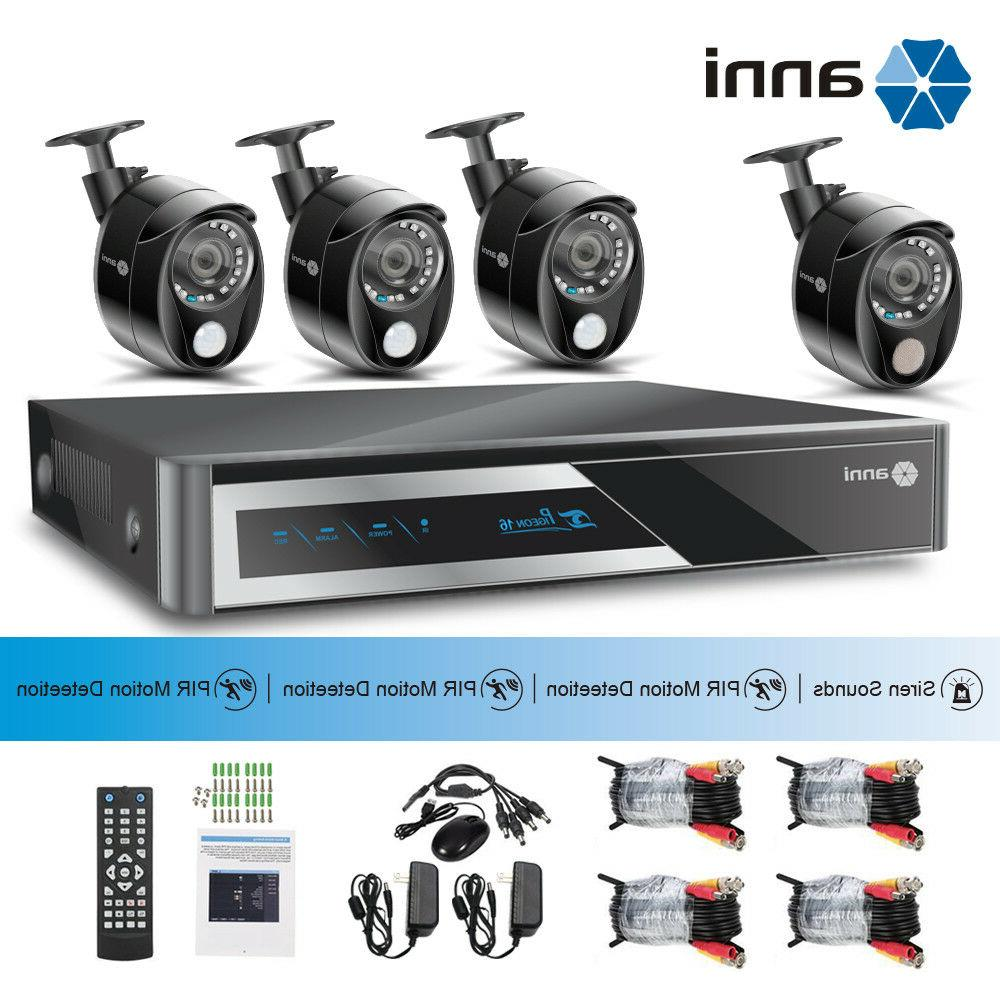 8CH 1080N DVR Recorder Home Security Camera System w/ PIR &S
