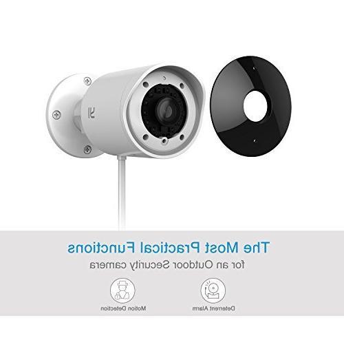 YI Security Camera, 1080p Cam 2.4G Wireless IP Waterproof Vision Activity Alert, Deterrent