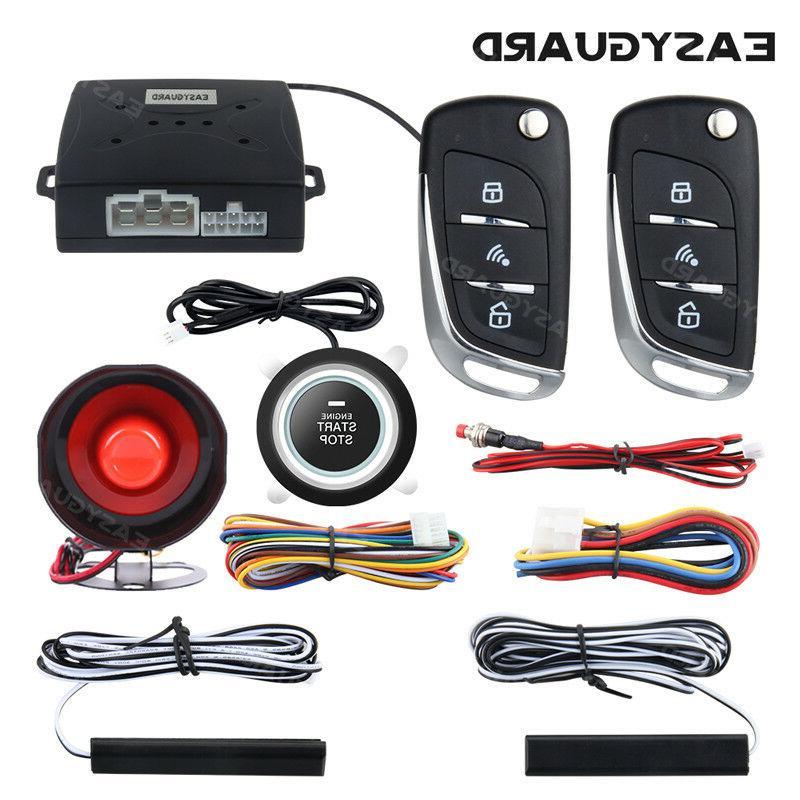 Smart Key PKE Alarm System Passive Entry Push Button Start Remote Auto