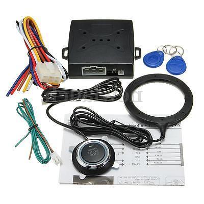 Smart Key RFID Car Alarm System Push Button Start Keyless Lo