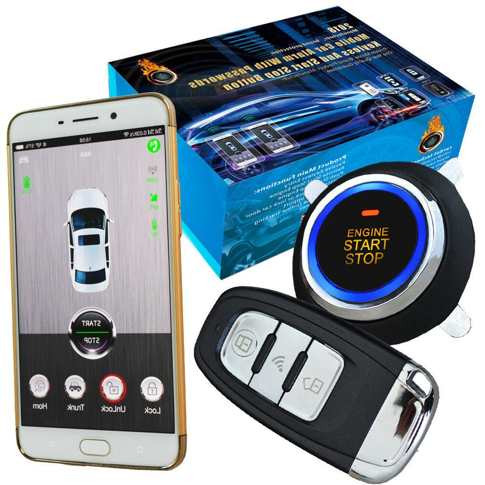 smart phone app car security alarm system keyless engine ign