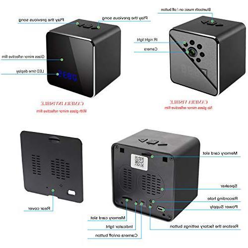 Spy Cam Bluetooth Cam in Clock-Mini Security Camera Clock