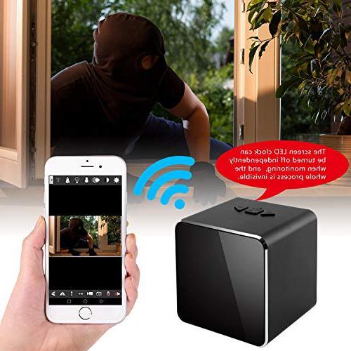 Spy Cam Bluetooth System-Nanny Clock-Mini Security Camera-Tiny Clock