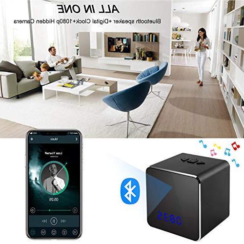 Spy Hidden Bluetooth System-Nanny Cam Clock-Mini Security Clock