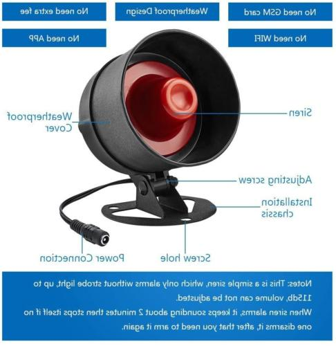 Standalone Office & Shop Security System Kit Horn
