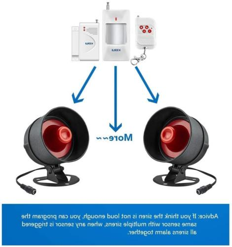 Standalone Home Shop Security Alarm Kit Horn
