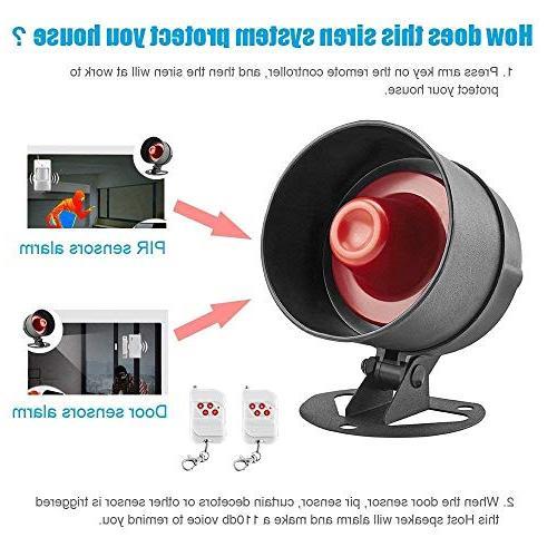 KERUI Standalone Home & Shop Alarm Indoor/Outdoor with Remote Door Sensor,Motion to