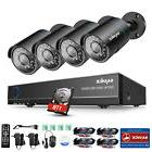SANNCE HD 1080N 8CH 5in1 DVR 1500TVL Outdoor IR Home Securit