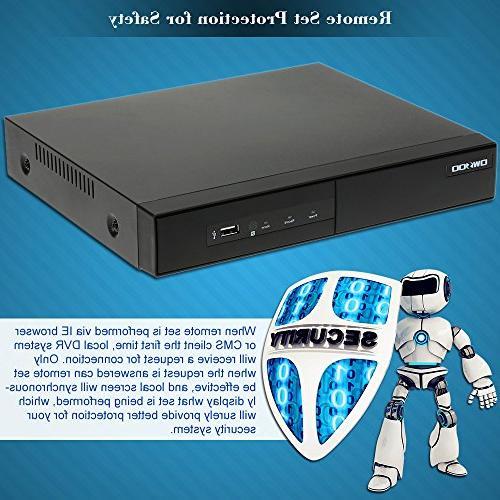 OWSOO Cameras 16 H.264 P2P CCTV Security Phone Detection Email Surveillance IP Camera