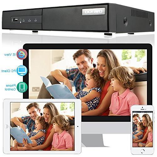 OWSOO DVR Recorder Cameras 16 Channel NVR1080P H.264 CCTV Security Detection Surveillance IP Camera