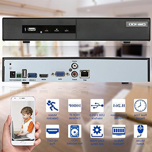 Cameras H.264 P2P NVR CCTV Security Phone Detection Email Surveillance