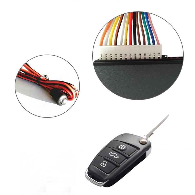 Universal <font><b>Car</b></font> Entry <font><b>System</b></font> Stop LED Kit Door Lock <font><b>with</b></font> <font><b>Remote</b></font>