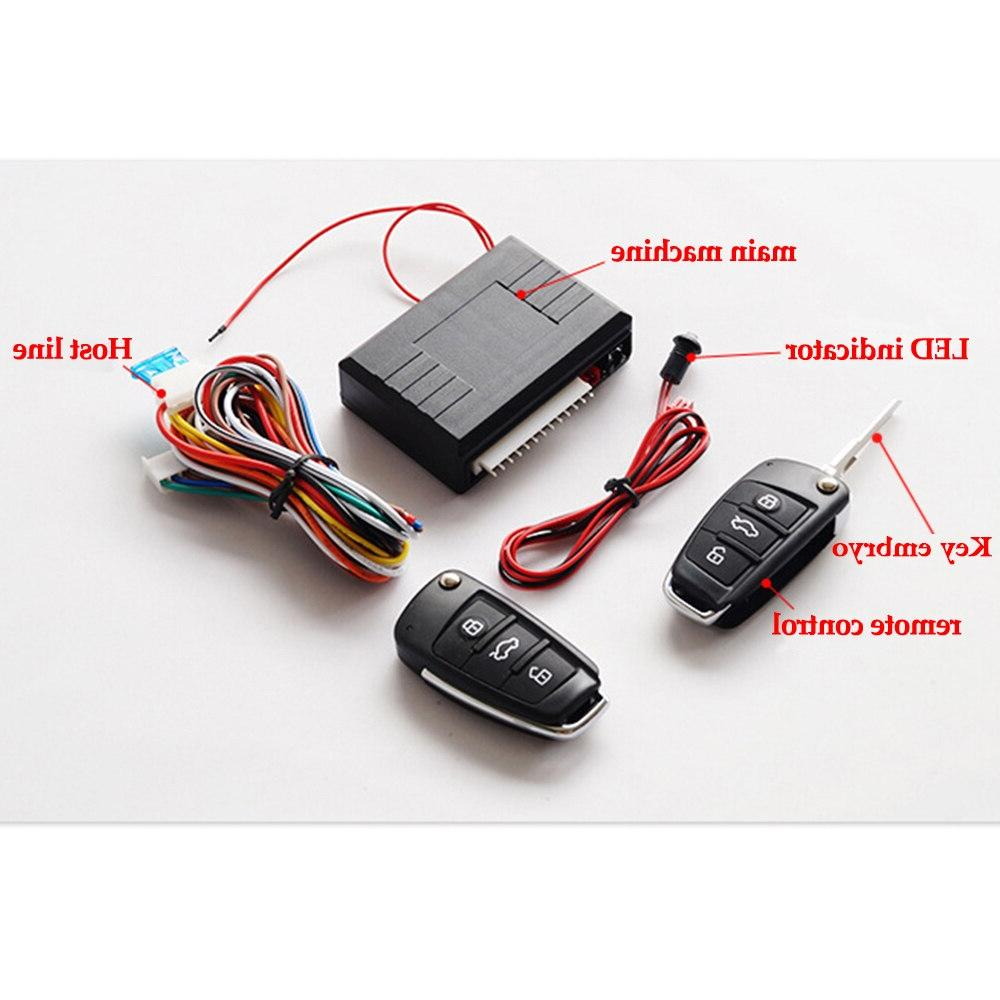 Universal <font><b>Car</b></font> Entry Button <font><b>Start</b></font> Stop LED Keychain Kit <font><b>Remote</b></font> Control