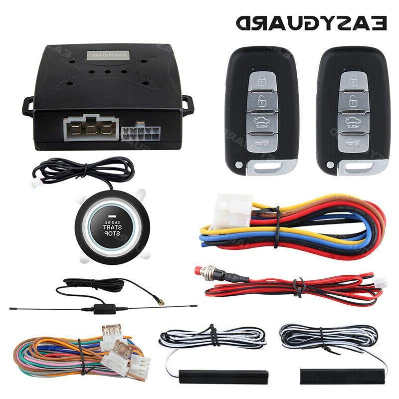 Easyguard Pke Universal Keyless Entry Kit Car Alarm Security System Push Start Car Alarms
