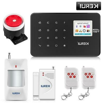 KERUI W18 TFT Screen WIFI Home Security System Motion