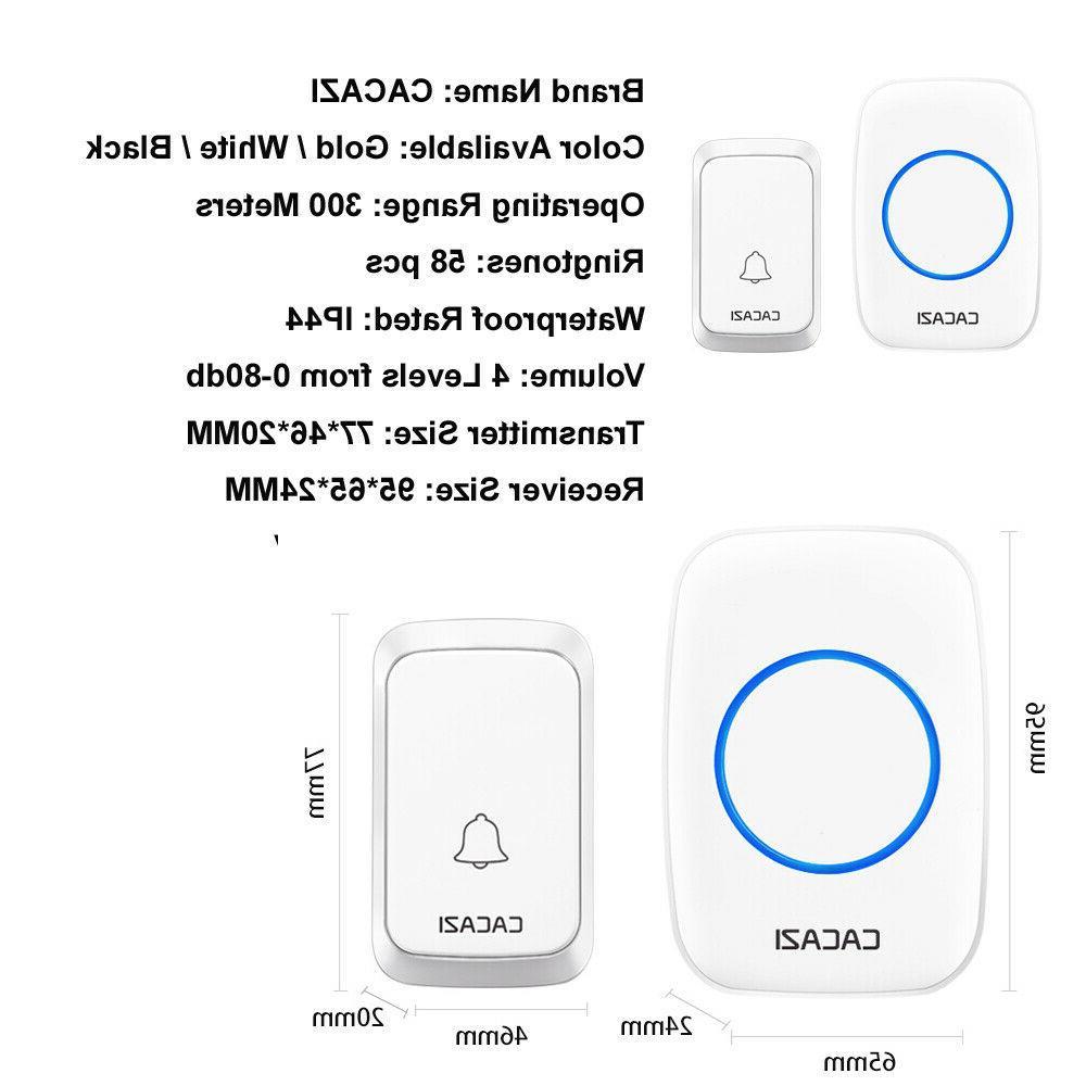 Waterproof Cordless Digital Remote System Alarm