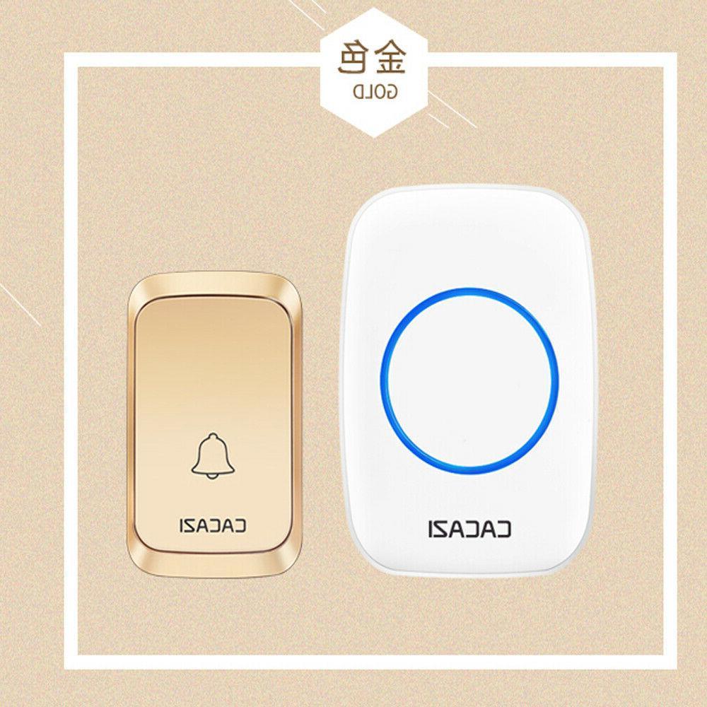 Waterproof Doorbell Cordless Remote Security System Alarm