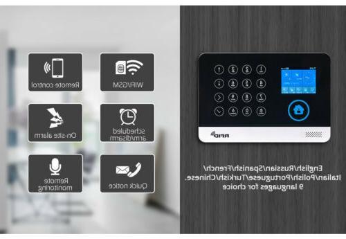 WG11 WIFI GSM Home Alarm APP