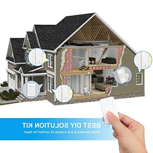 LarmTek WiFi with Alarm Host, Sensor and Phone Wi-Fi GSM Home Security System Easy DIY Setup, AK01-W