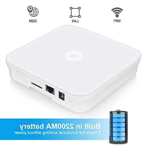 LarmTek WiFi with Motion Sensor Remote Phone Wireless LAN Wi-Fi Cellular Security System with Easy DIY Setup,