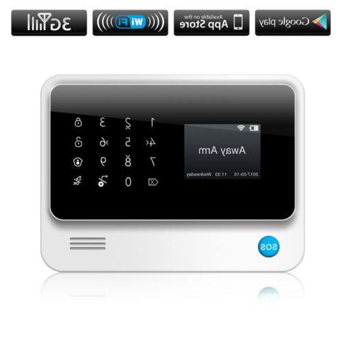 wifi gsm 3g gprs burglar security alarm