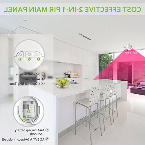BIBENE 2.4Ghz Home Security Door Alarm System DIY KIT Works with Alexa Wireless Alarm System Set with APP, Fee,