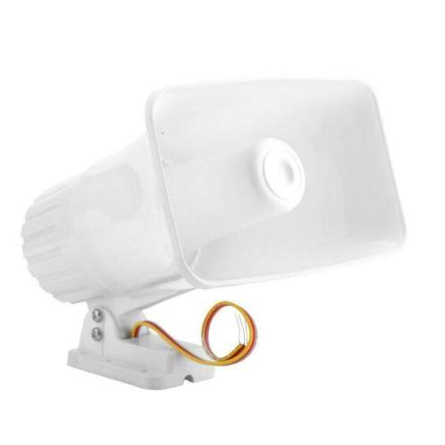 Wired Siren Horn 12V White Home System