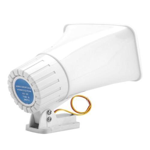 Wired 150dB Horn 12V White Home System