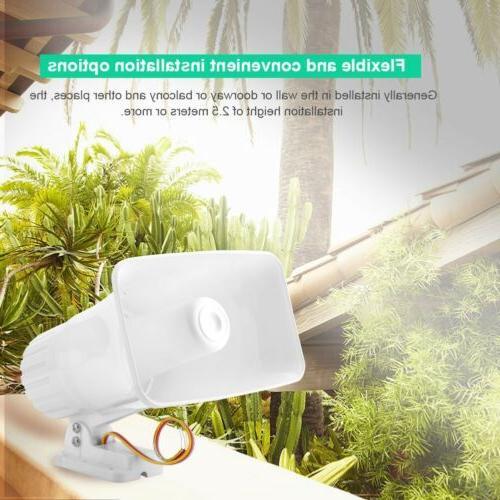 Wired Horn 12V White Home Burglar System