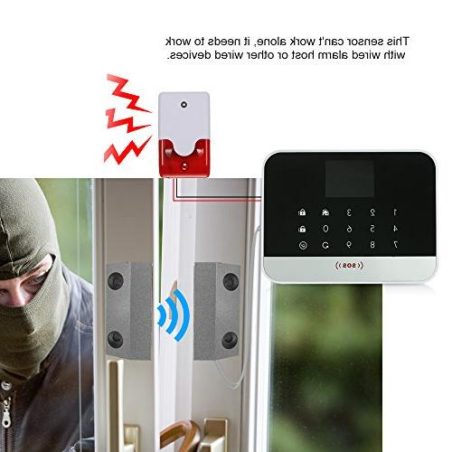 OWSOO Rolling Gate Sensor Magnetic Contacts Switch Detector for Alarm Access Control System