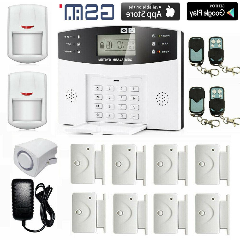wireless 108zones gsm pir home security burglar