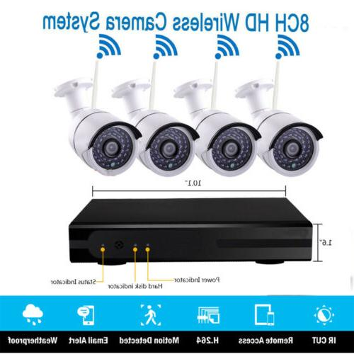 Wireless 1080P NVR Outdoor WIFI Security System Motion
