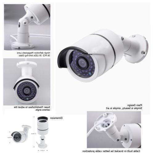 Wireless 1080P NVR WIFI Camera System Alarm