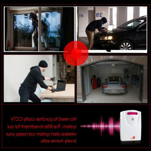Wireless Driveway Alarm System Animal & Car Detector Infrare