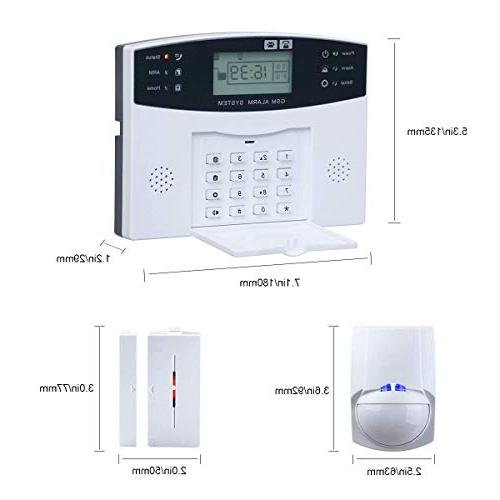 Wireless Burglar Alarm System GSM LCD Anti-theft Security Siren