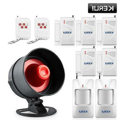 wireless burglar alarm system local siren speaker