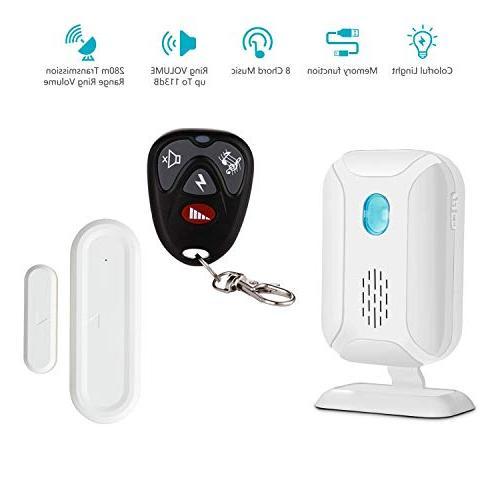 wireless door open chime operating