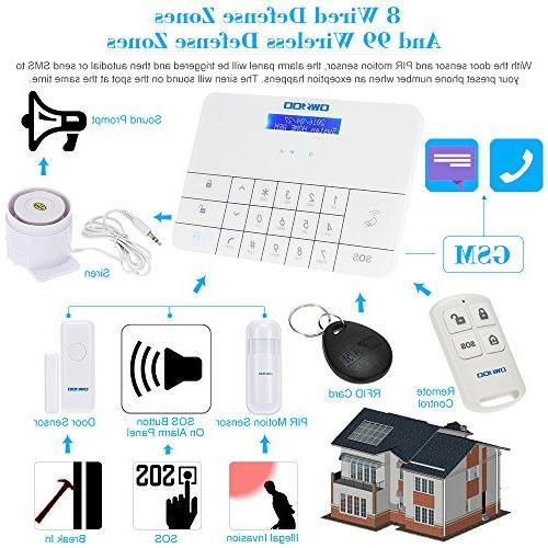 OWSOO & SMS Auto Home Security Intruder