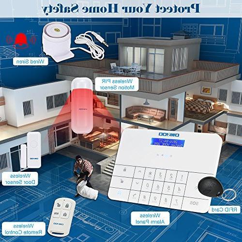 & Dialer Home Intruder Alarm System RFID