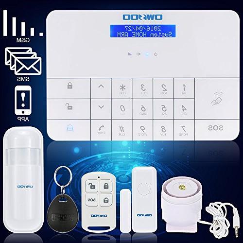 OWSOO & Home Security Intruder Alarm RFID