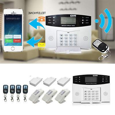 Wireless LCD GSM SMS Burglar Fire Alarm System Auto Dialer H