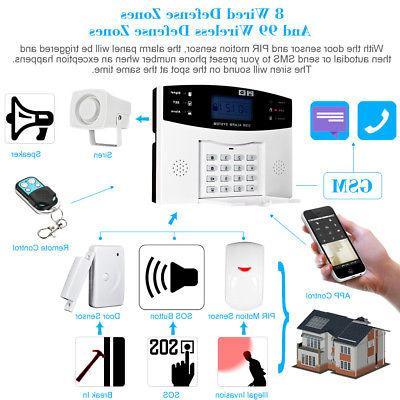 Wireless GSM SMS Home Burglar Detector W2M9