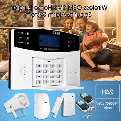 wireless gsm sms home burglar security alarm