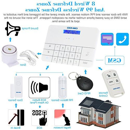 OWSOO LCD & Security Alarm System Auto