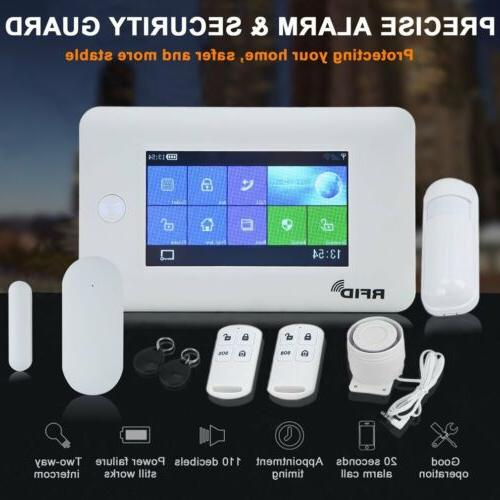 Wireless GSM + Touch Security Home Alarm Kit US